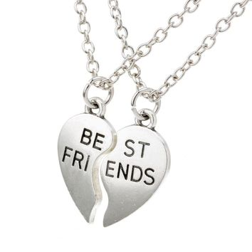 Christmas Gifts collier choker necklace heart pendant pieces broken two best friend friendship forever women necklace jewelry collares mujer+Christmas gifts