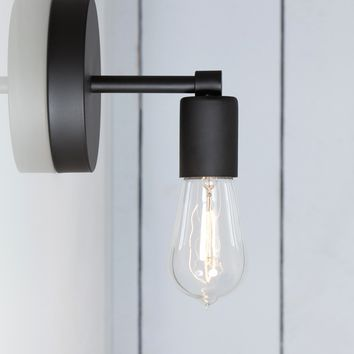 Matte Flat Black Sconce - Wall Light