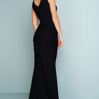Kendra Sleeveless Evening Gown - Black