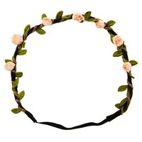 Rosebuds & Chains Flower Headband