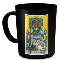 The Chariot Tarot Card Coffee Cup Mug chariotmug