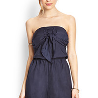 FOREVER 21 Sweet Tie-Front Romper