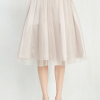 Fairytale Long Full Pointe of View Skirt in Latte