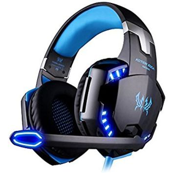 2017 New Updated SADES Spirit Wolf 7.1 Surround Stereo Sound USB Computer Gaming Headset with Microphone,Over-the-Ear Noise Isolating,Breathing LED Light For PC Gamers (Black White)