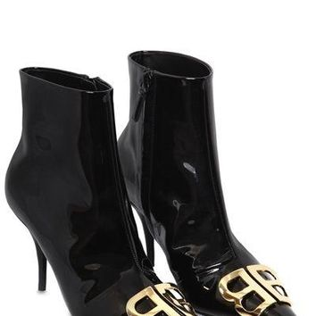 "BALENCIAGA 80 mm ""BB"" lacquer and ankle boots"