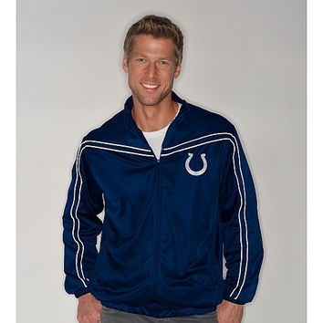 G-III Indianapolis Colts Track Jacket - http://www.shareasale.com/m-pr.cfm?merchantID=7124&userID=1042934&productID=524339472 / Indianapolis Colts