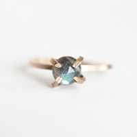 Labradorite Solitaire Ring Gold or Sterling