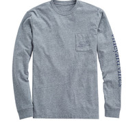 Shop Long-Sleeve Vintage Whale Heater Pocket T-Shirt at vineyard vines