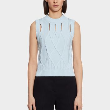 Versace Sleeveless Slash Knit Top for Women | US Online Store