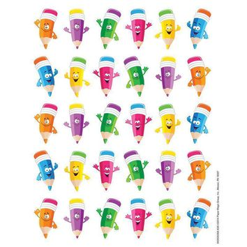 PENCIL SMILEY FACES THEME STICKERS