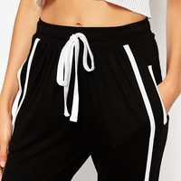 ASOS Jersey Joggers with Contrast Side Stripe