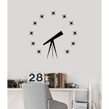 Vinyl Wall Decal Astronomy Science Stars Telescope Planetarium Decor Stickers Mural (ig5517)