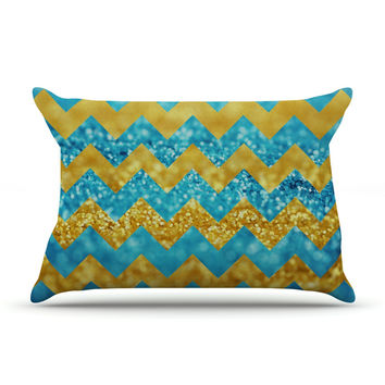 "Beth Engel ""Blueberry Twist"" Chevron Pillow Case"
