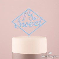 Weddingstar 4464 11 Oh So Sweet Acrylic Cake Topper Pastel Blue