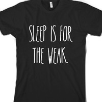 Sleep-Unisex Black T-Shirt