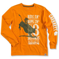 Carhartt Boys' Ride 'Em Rope 'Em Long Sleeve Shirt - 4-7 - Sheplers