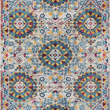 2923 Multi-Color Medallion Traditional Area Rugs