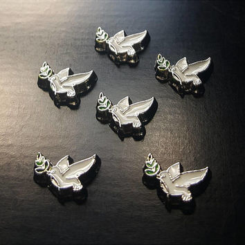 Peace Dove Floating Charm for Floating Lockets-Gift Idea