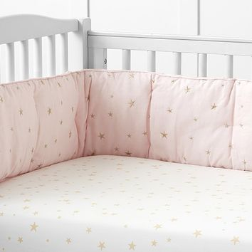 Emily & Meritt Scattered Stars Crib Fitted Sheet | Pottery Barn Kids