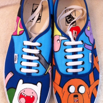 Adventure Time Custom Hand Painted Vans