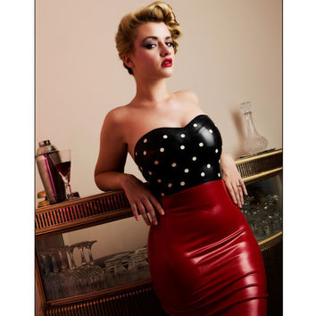 Latex Pin Up Pencil Dress-custom