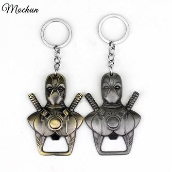Deadpool Dead pool Taco MQCHUN  Bottle Opener Keychain  Mask  Warrior Beer Opener Key Chain Ring Holder Movie Jewelry Souvenirs AT_70_6