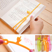 Fashion Kawaii Silicone Colorful Finger Pointing Bookmark Book Mark Funny Gift Office School Supply