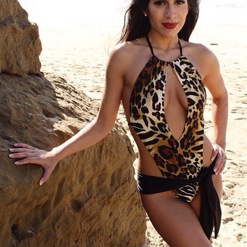 Animal print sexy one piece SALE