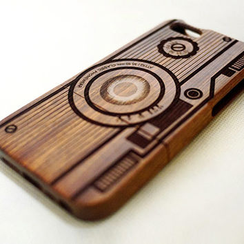Camera C5 Mahogany Wood iPhone 5 Case - Custom Wood iPhone 5s Case - iPhone 5 5s Case Wood - Wooden iPhone 5 5s Case - Gift