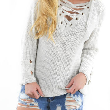 St. Cloud Stone Grommet Sweater