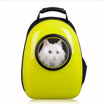 Pet Carrier Space Capsule Breathable Backpack For Cats/Dogs