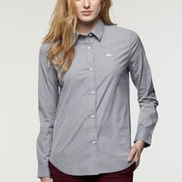 Lacoste Long Sleeve Stripe Poplin Stretch Shirt : Tops