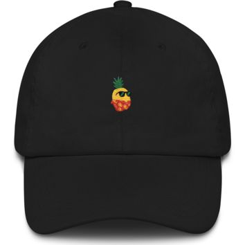 Pineapple Baseball Cap For Women | Tropical Hawaiian Dad Hat | The Jazzy Panda
