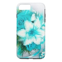 Blue Aquamarine Floral iPhone 7 Plus Case
