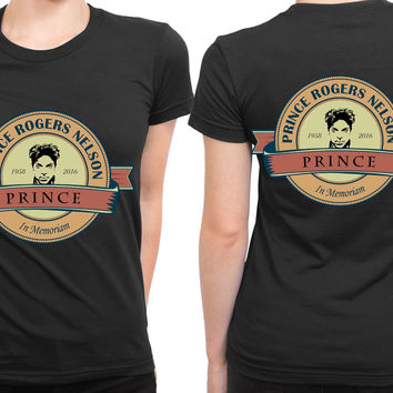 Prince Roger Nelson In Memoriam 2 Sided Womens T Shirt