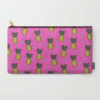 Pineapples Carry-All Pouch by Sandra Arduini | Society6