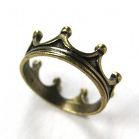 Royal Crown Princess Ring in Bronze - Available in sizes 5 and 6
