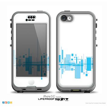The Abstract Blue Skyline View Skin for the iPhone 5c nüüd LifeProof Case