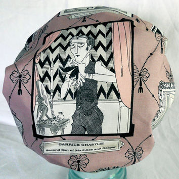 Shower Cap Retro Ghastly Horror  - Ghastlies Edward Gorey Gothic - Rockabilly Bath and Beauty Hat