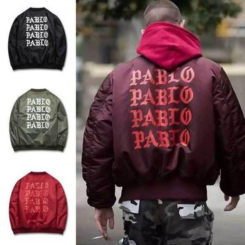 Mens Winter Jackets And Coats Padded Pablo Jacket Kanye High Street Ma1 Bomber Jacket Windbreaker 1