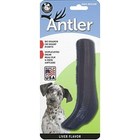 Liver Flavored Nylon Antler Dog Chew Toys, Made in USA