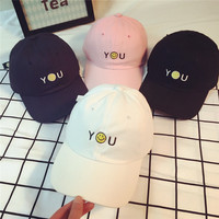 You Shoulder Smile Embroidered Baseball Cap Hat