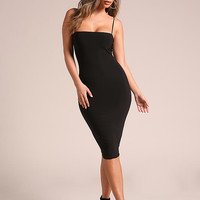 Black Sleek Bodycon Dress