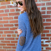 Button Detail Knit {Blue}