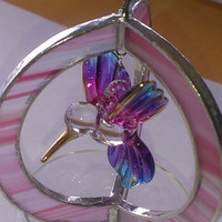 Stained Glass Hummingbird Suncatcher in 3D - Choice of Colour