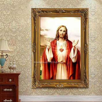 Jesus Christ Jesus Canvas Posters and Prints Wall Art Pictures for living room Home Decor cuadros decoracion Oil painting 53