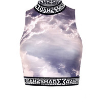 SHADE Polo Crop Top / Cloud