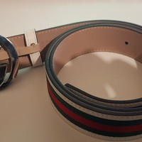 Gucci GG Belt White/Red/Green 36-38 inch Waist - Used / Mint
