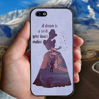 Cinderella Dream Quote Disney - Print on hard plastic case for iPhone case. Select an option