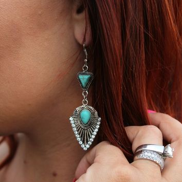 Boho Stone Arrow Earrings |  Boho Earrings Jewelry